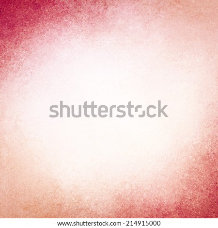 abstract pink background design, border has dark pink and peach color edges of rough distressed vintage grunge texture, pale soft opaque white center  - stock photo
