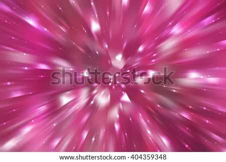 abstract pink background. fractal explosion star with gloss and lines - stock photo