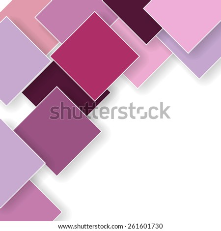 abstract pink background with rhombus - stock photo