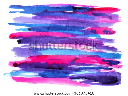 abstract pink, blue, purple stripes. hand drawn with ink - stock photo