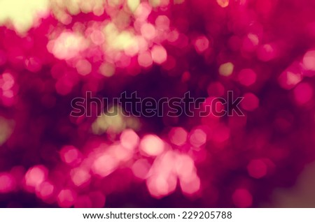 Abstract pink bokeh. Shiny blurred background. - stock photo
