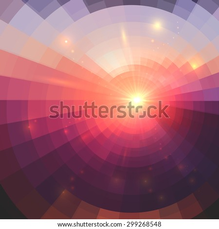 Abstract pink circle technology mosaic background - stock photo
