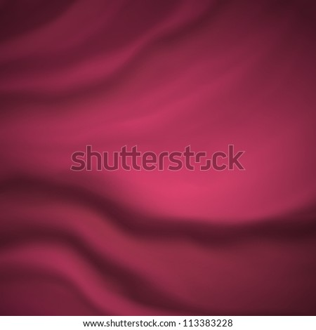 abstract pink cloth background or silk fabric illustration of wavy flowing folds of dark waves in smooth satiny looking material design with curves and textured surface, elegant silky background drape - stock photo