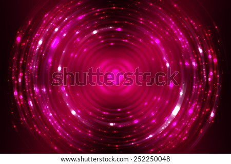 Abstract pink fractal composition. Magic explosion star with particles - stock photo