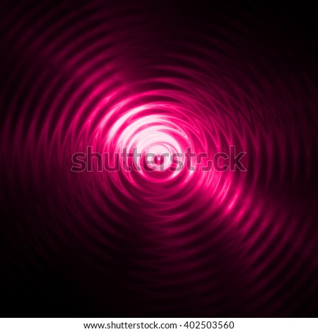 Abstract pink light ripple in water with concentric circles.  - stock photo