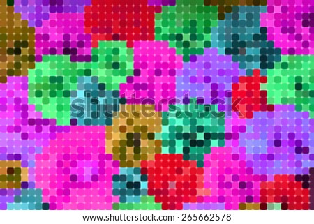 Abstract pixel colorful background ,created technique from paper - stock photo