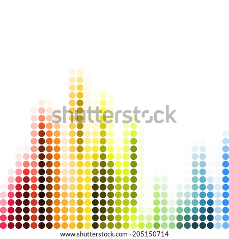Abstract pixel mosaic gradient colorful raster background