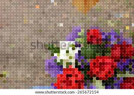Abstract pixels colorful background ,created technique from paper - stock photo