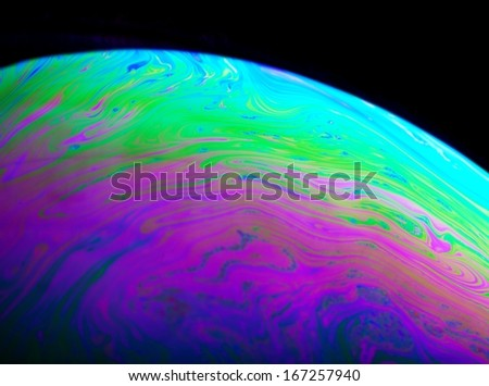 Abstract planet, colorful background close up - stock photo
