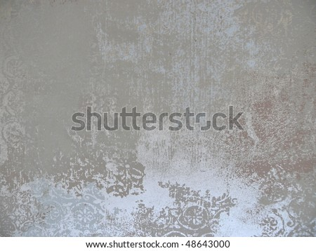 abstract plaster silvery texture. More of this motif & more decors in my port. - stock photo