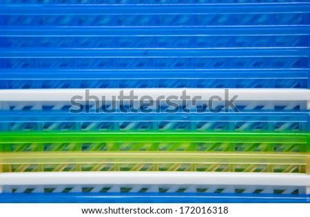 Abstract plastic layer arranged - stock photo