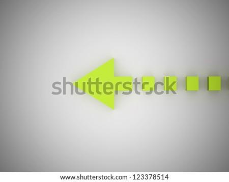 Abstract pointer arrow green - stock photo