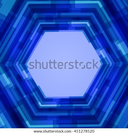 Abstract polygon text template of blue shades - stock photo