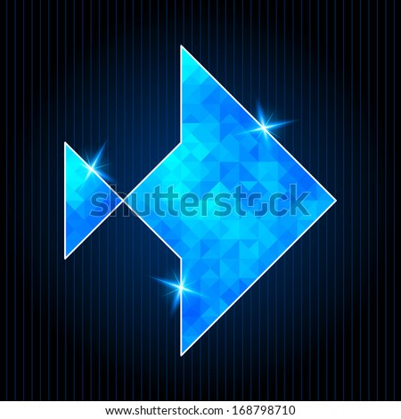 Abstract Polygonal Fish on Dark Background