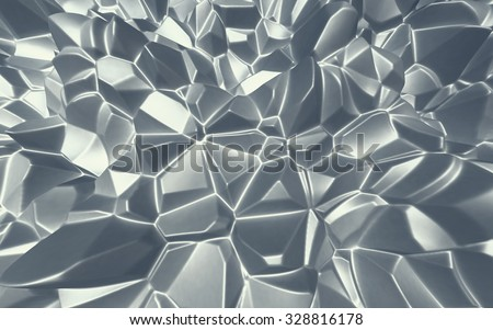 Abstract Polygonal Pattern. 3d rendering.
