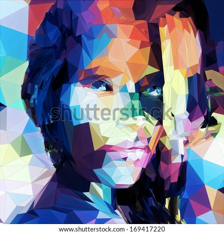 Abstract portrait  - stock photo
