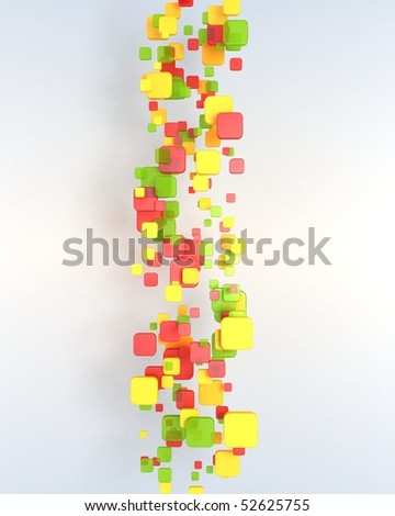 Abstract Positive Squares - stock photo