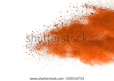 abstract powder splatted background,Freeze motion of color powder exploding/throwing color powder, multicolor glitter texture on white background
