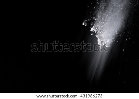 abstract powder splatted background,Freeze motion of white powder exploding/throwing white powder
