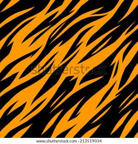 Abstract Print Animal Seamless Pattern Zebra Stock Vector