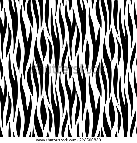 Abstract print animal seamless pattern. Zebra, tiger stripes. Striped repeating background texture. Cloth design. Wallpaper  - stock photo