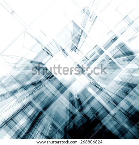 Abstract project. Architecture design  - stock photo
