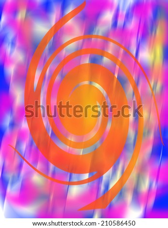 Abstract psychedelic spiral background image - stock photo