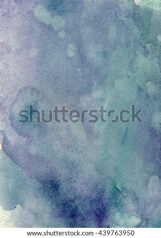 abstract purple and green watercolor background - stock photo