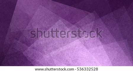 abstract purple background with layers of transparent white shapes in random artsy pattern