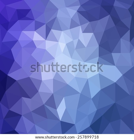 abstract purple blue background, low poly textured triangle shapes in random pattern, trendy lowpoly background - stock photo