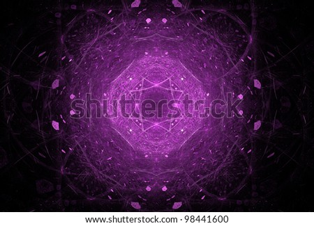 Abstract Purple Futuristic Background - stock photo