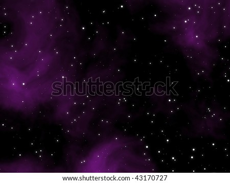 Abstract purple night sky with stars