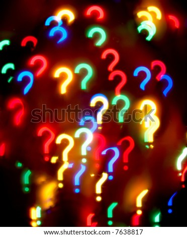 Abstract question-mark background - stock photo