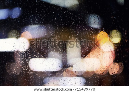 Abstract Rain Drop background Blur and color bokeh