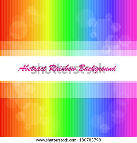 Abstract rainbow background with strips and shapes