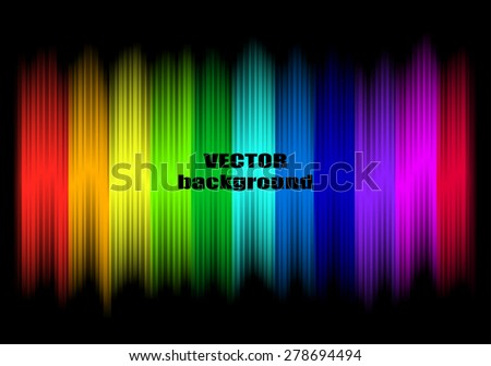 Abstract rainbow colours on a black background - stock photo