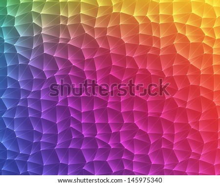 abstract rainbow lowpoly background - stock photo