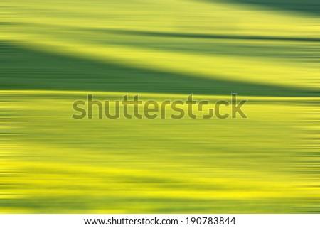 Abstract rape field - stock photo