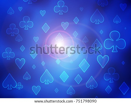 Abstract Raster Background Symbols Playing Cards Stock Illustration