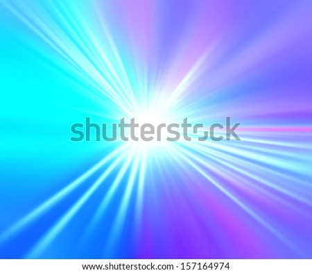Abstract rays flare background - stock photo