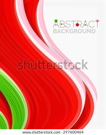 Abstract realistic solid wave background.  illustration - stock photo