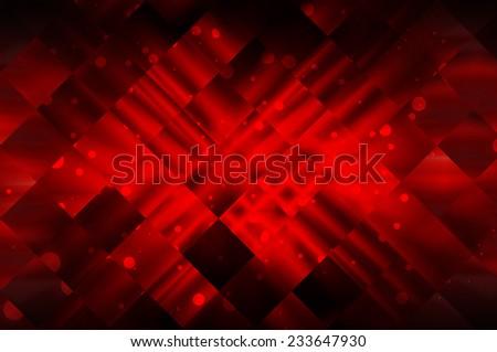 Abstract recursive red bright brilliant - stock photo