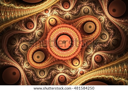 Abstract red and brown fractal julian.