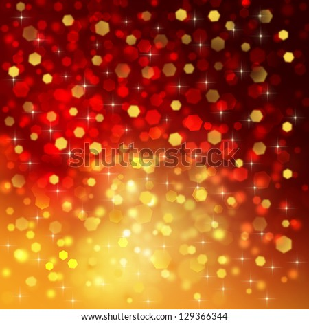 Abstract red and orange background - stock photo