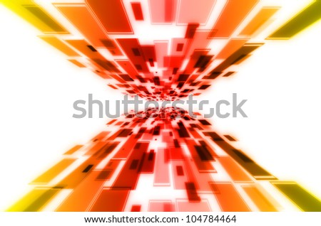 Abstract red and yellow background - stock photo