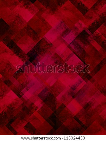 abstract red background black geometric design of diamond square shapes in random pattern of glittery shiny blurred light shimmer background for Christmas or New year's Eve celebration brochure paper - stock photo