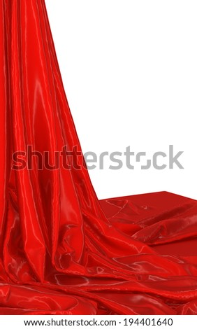 Abstract red background, image isolated