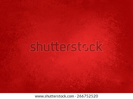 abstract red background or Christmas paper with bright center. Sponged border frame vintage grunge background texture - stock photo