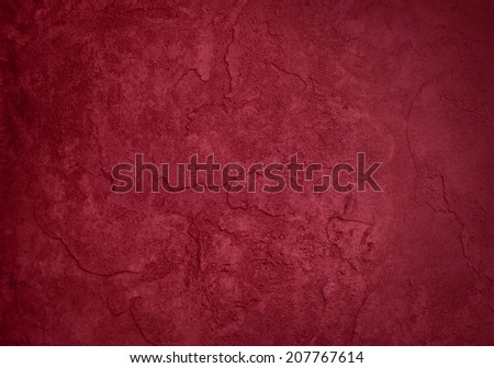 abstract red background painted wall with vintage grunge background texture, distressed rough smeary paint on wall, dark red brochure ad, red website template, red Christmas background color  - stock photo