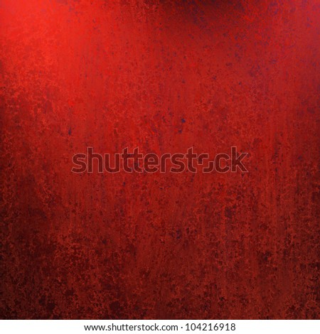 abstract red background paper or old painted wall illustration with aged vintage grunge texture and soft faded worn black edges and copy space for text or title for Christmas - stock photo